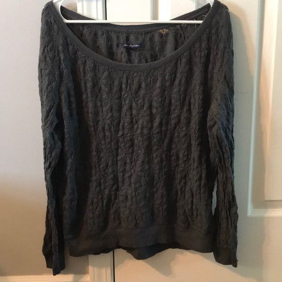 American Eagle Outfitters Other - Long sleeve gray shirt